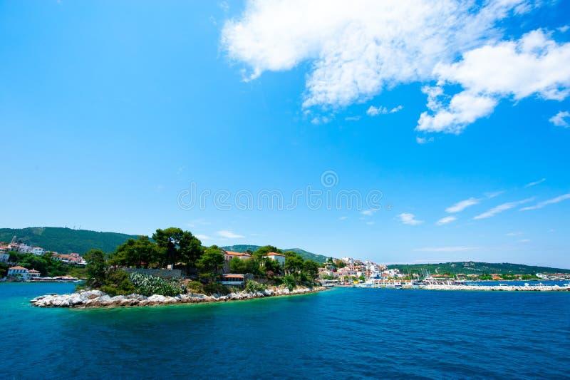 Isla de Skiathos, Grecia imagenes de archivo