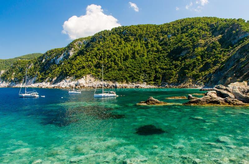 ¡Isla de Skopelos! foto de archivo