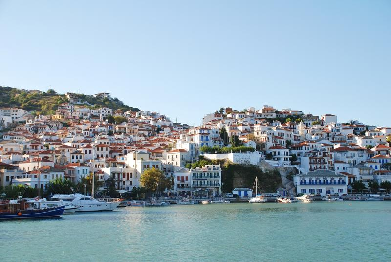 Isla de Skopelos, Grecia imagen de archivo
