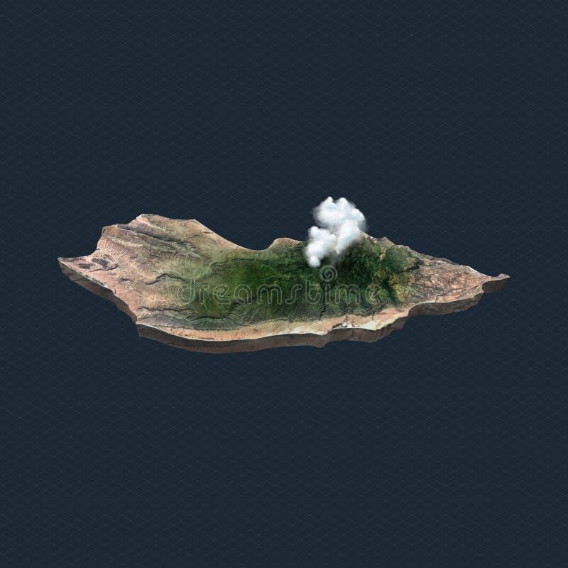 Isla de Socotra Yemen, socotra, uae, ksa stock de ilustración