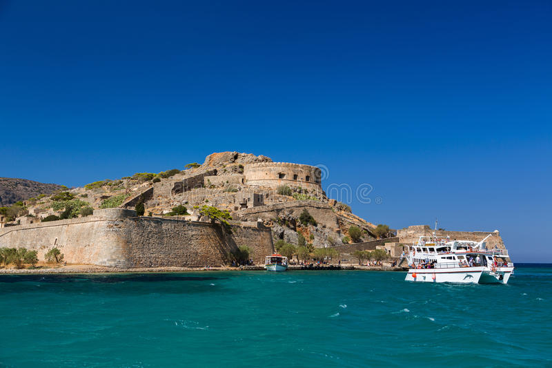 Isla de Spinalonga crete Grecia foto de archivo libre de regalías