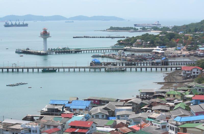Isla de Srichang una isla grande en Chonburi fotografía de archivo