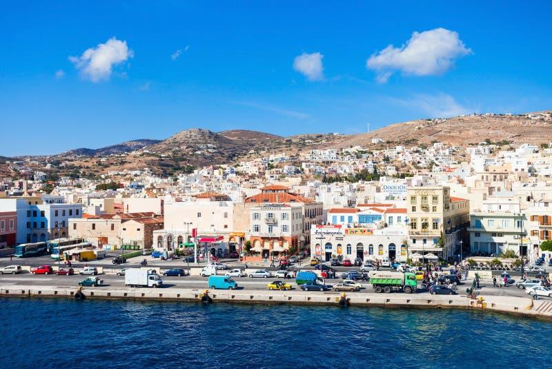 Isla de Syros en Grecia foto de archivo libre de regalías