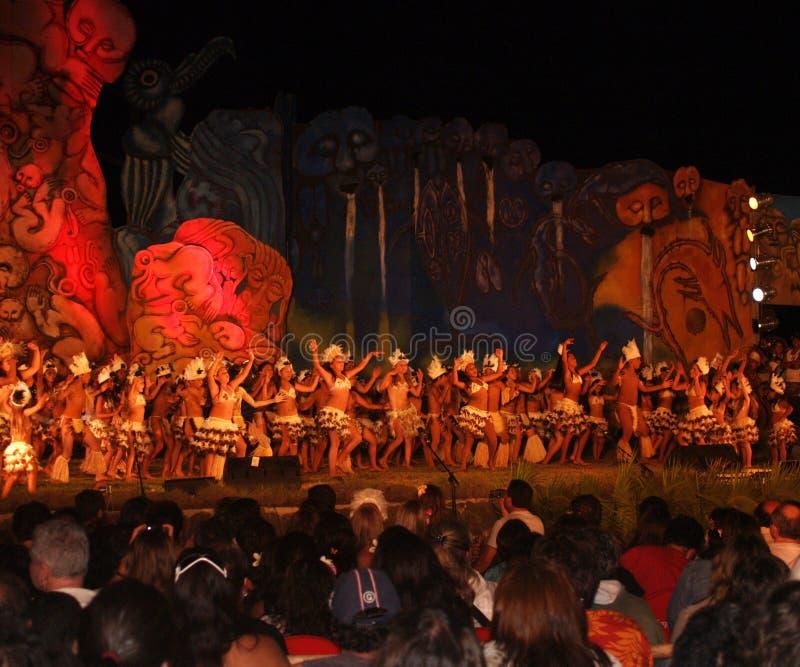 Isla de Tapati Eastr del festival fotos de archivo
