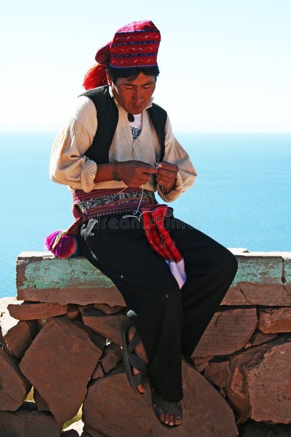 Isla de Taquile fotografía de archivo libre de regalías