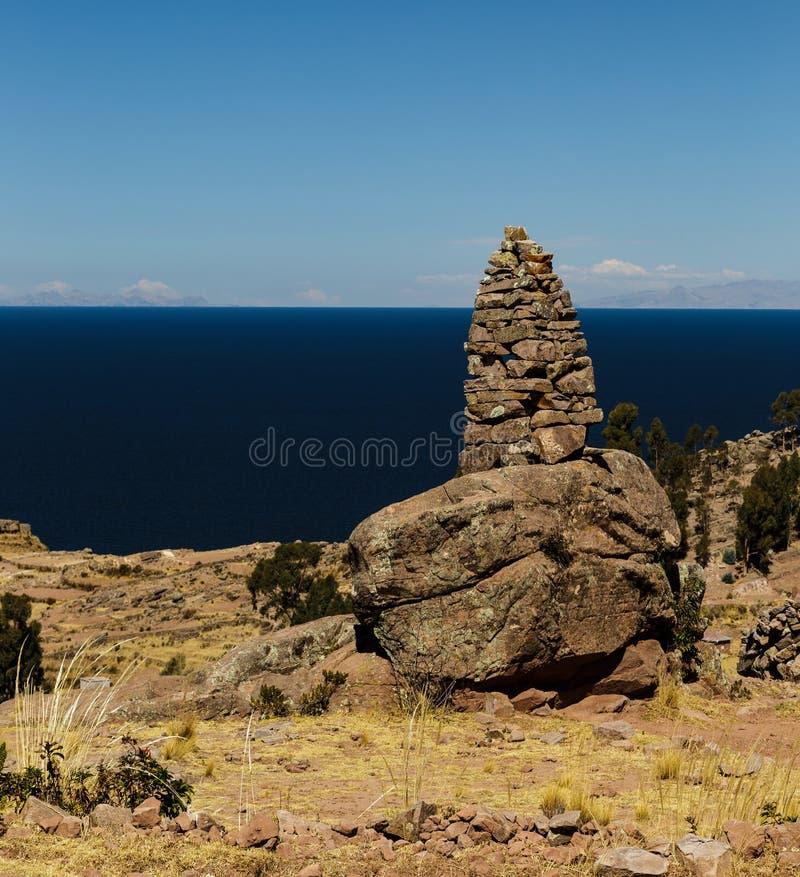 Isla de Techile, Perú imagen de archivo