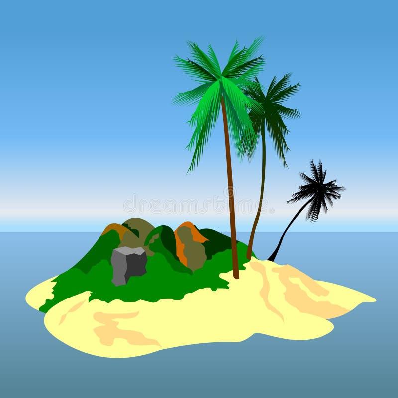 Isla de tres palmas imagen de archivo