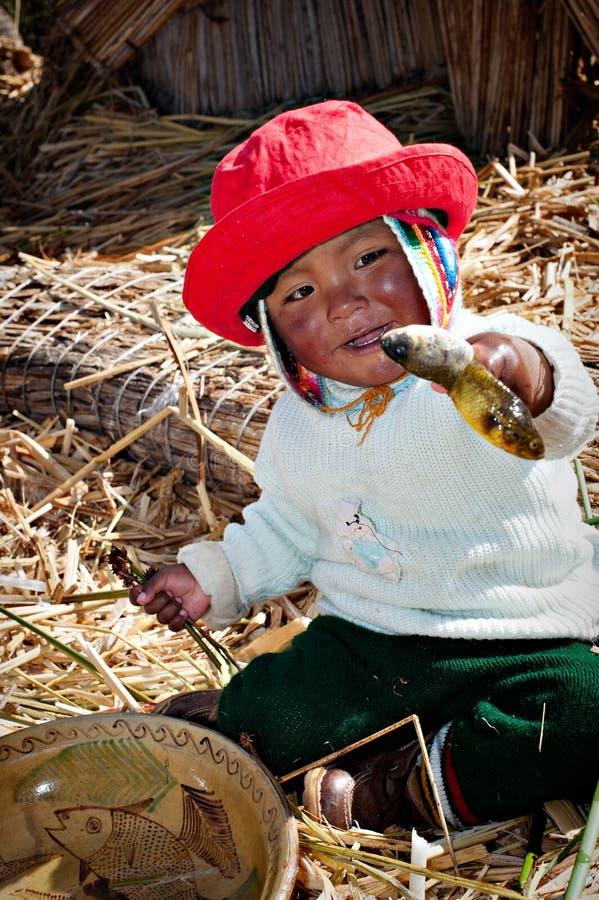 Isla de Uros, el lago Titicaca foto de archivo libre de regalías