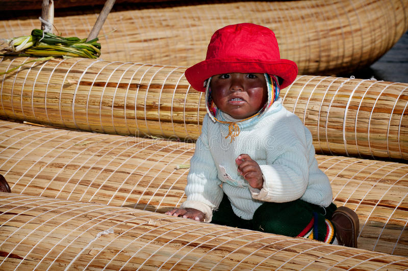 Isla de Uros, el lago Titicaca fotos de archivo libres de regalías