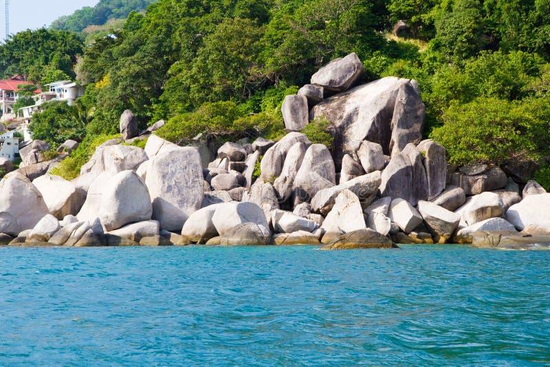 Isla de vacaciones de Kho Nang Yuan en Koh Tao, Tailandia fotografía de archivo