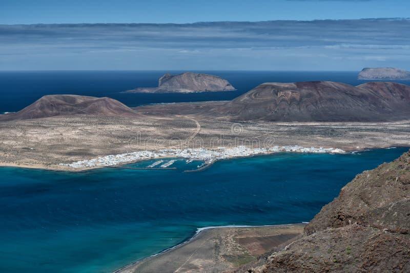 Isla de volcanes, visión aérea, Lanzarote fotos de archivo libres de regalías