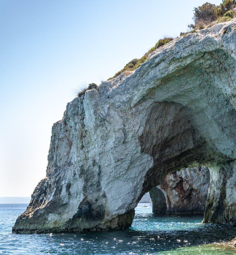 Isla de Zakynthos, Grecia Una perla del mediterr?neo con las playas y las costas convenientes por d?as de fiesta inolvidables del imagenes de archivo