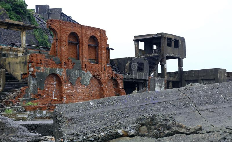 Isla del acorazado de Gunkanjima en Nagasaki Japón imágenes de archivo libres de regalías