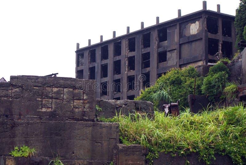 Isla del acorazado de Gunkanjima en Nagasaki Japón fotografía de archivo