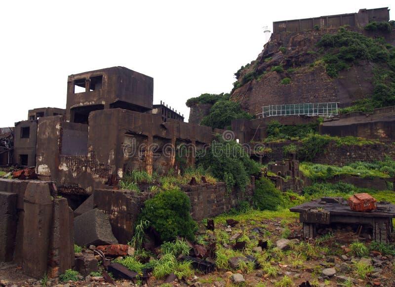 Isla del acorazado de Gunkanjima en Nagasaki Japón foto de archivo