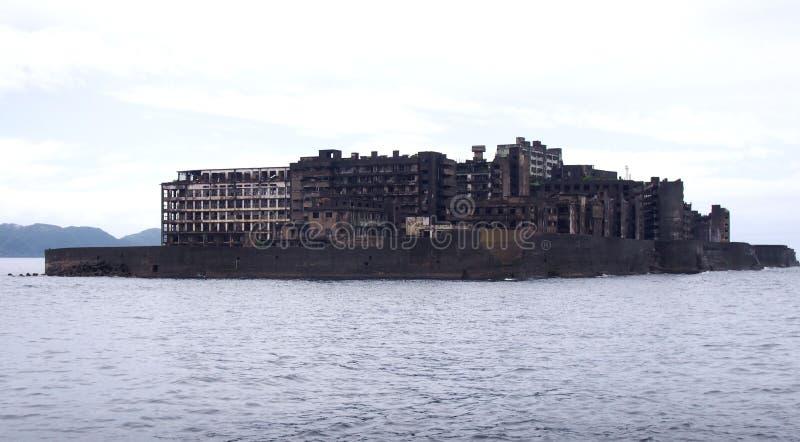 Isla del acorazado de Gunkanjima en Nagasaki Japón fotografía de archivo libre de regalías