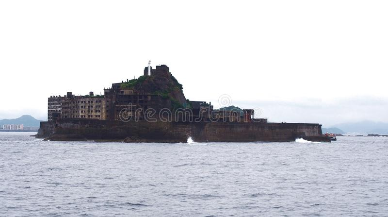 Isla del acorazado de Gunkanjima en Nagasaki Japón imagen de archivo libre de regalías