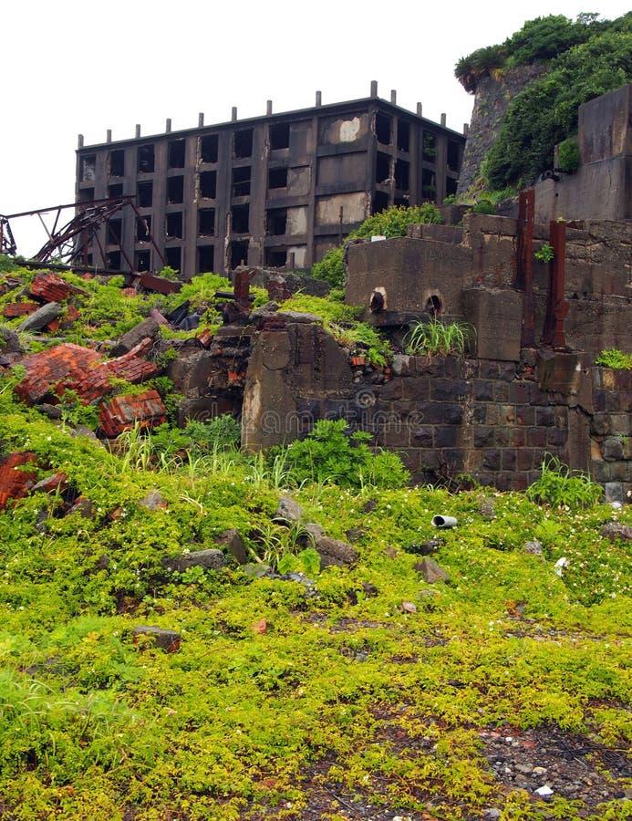 Isla del acorazado de Gunkanjima en Nagasaki Japón imagenes de archivo
