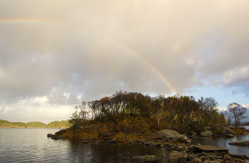 Isla del arco iris imagen de archivo libre de regalías