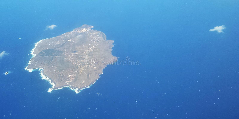 Isla del avión imagenes de archivo
