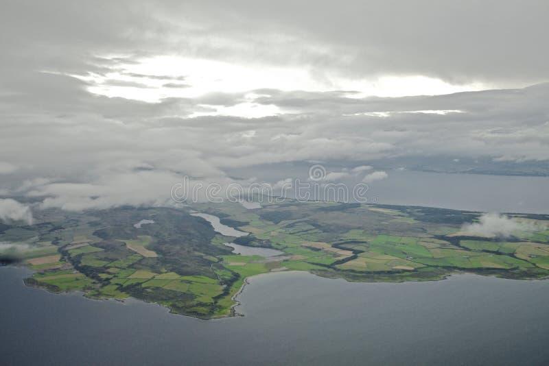 Isla del Bute y de la península de Kintyre imagen de archivo libre de regalías