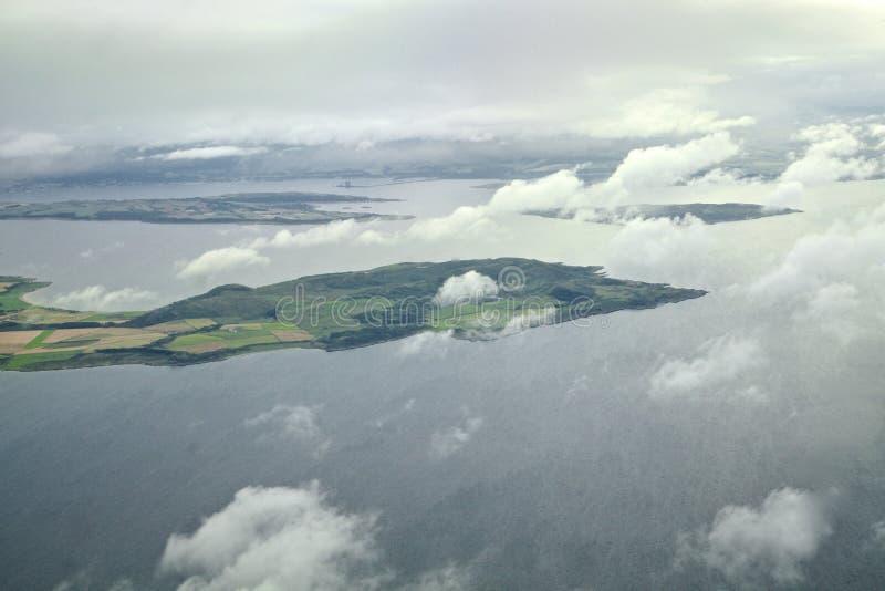 Isla del Bute y de la península de Kintyre fotos de archivo libres de regalías