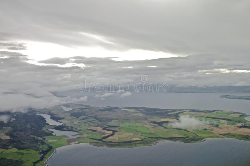 Isla del Bute y de la península de Kintyre fotos de archivo