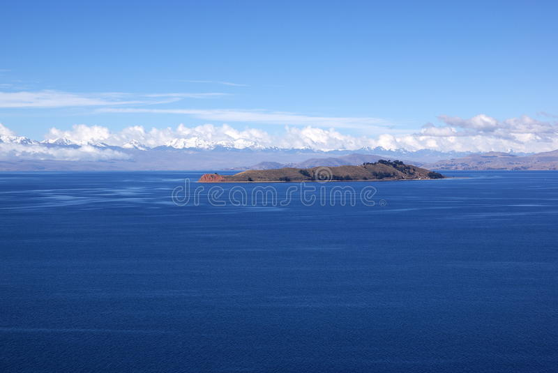 Isla del luna, Bolivia stock photo