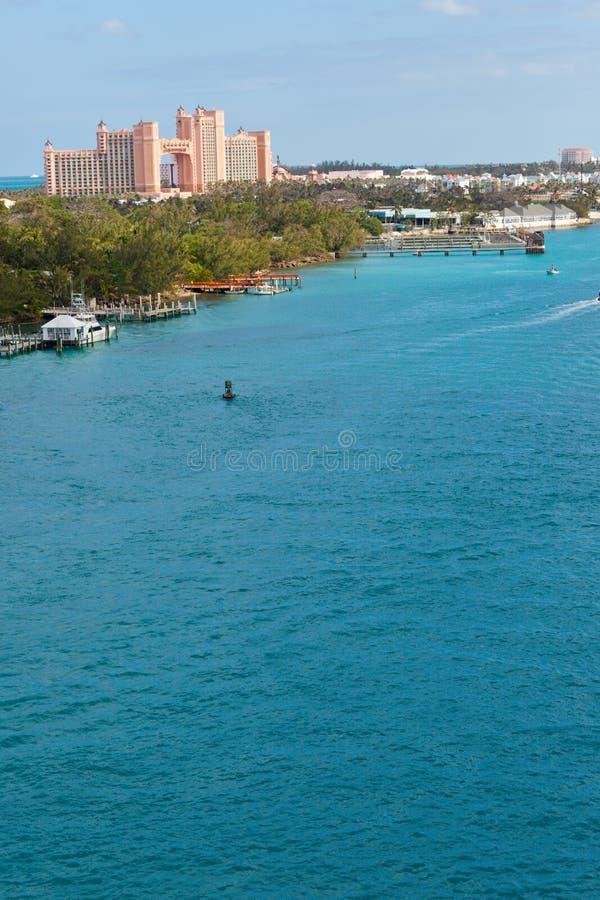 Isla del paraíso en Bahamas fotos de archivo