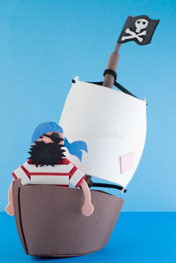 Isla del pirata, juguete fotografía de archivo libre de regalías
