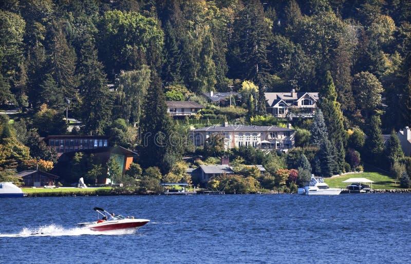 Isla del sedero de Washington del lago del parque de Seward fotos de archivo libres de regalías