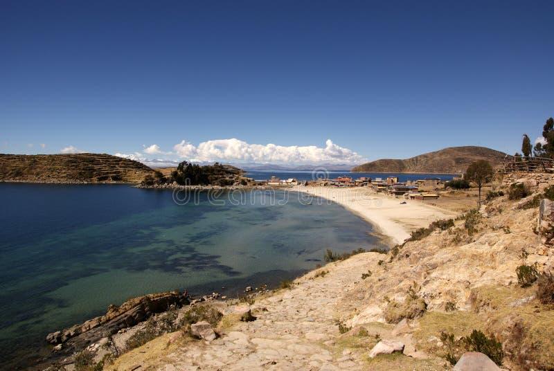 Isla del sol,玻利维亚 库存照片