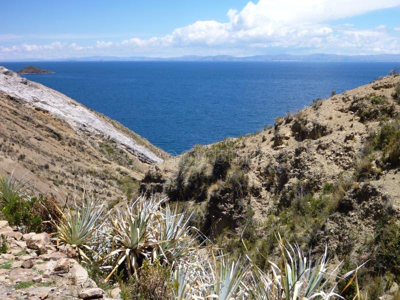 Isla del sol al titicaca di lago immagine stock libera da diritti