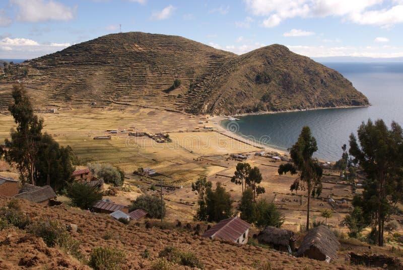 Isla del sol, Bolivia fotografia stock