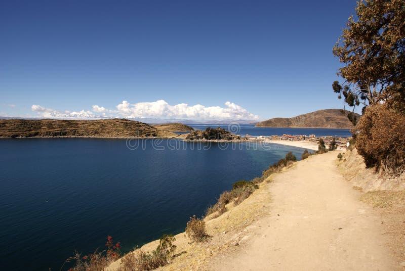 Isla del sol, Bolivia immagini stock libere da diritti