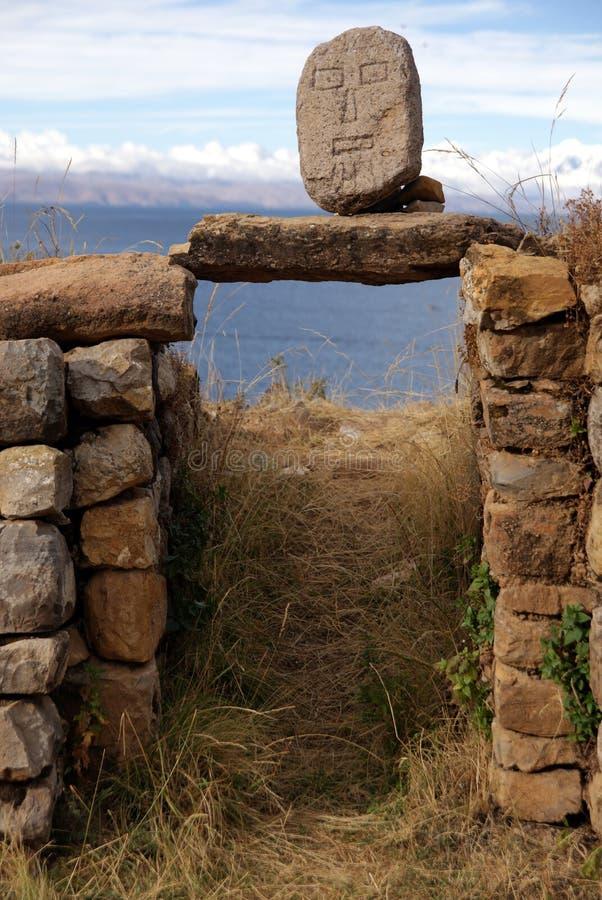 Isla Del sol, Bolivien stockbilder