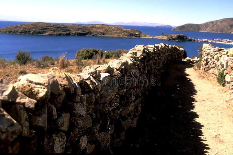 Isla del Solenóide Bolívia fotografia de stock