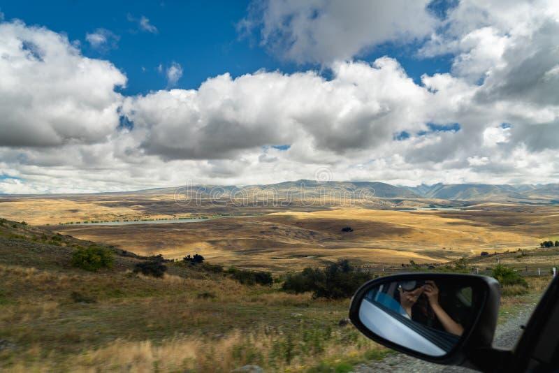 Isla del sur de Nueva Zelanda, viaje por carretera fotografía de archivo