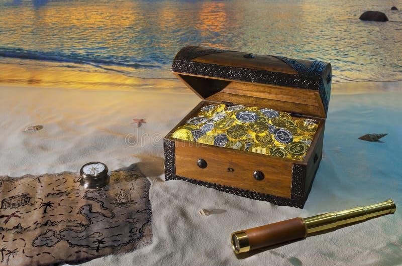 Isla del tesoro imagen de archivo