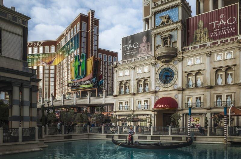 Isla del tesoro, Las Vegas, Nevada fotos de archivo