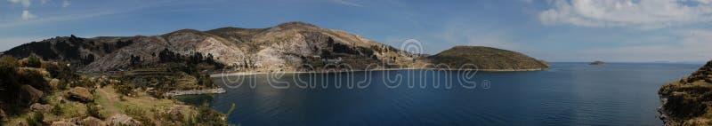 Isla Del Zol, jeziorny titi caca, Bolivia obrazy stock