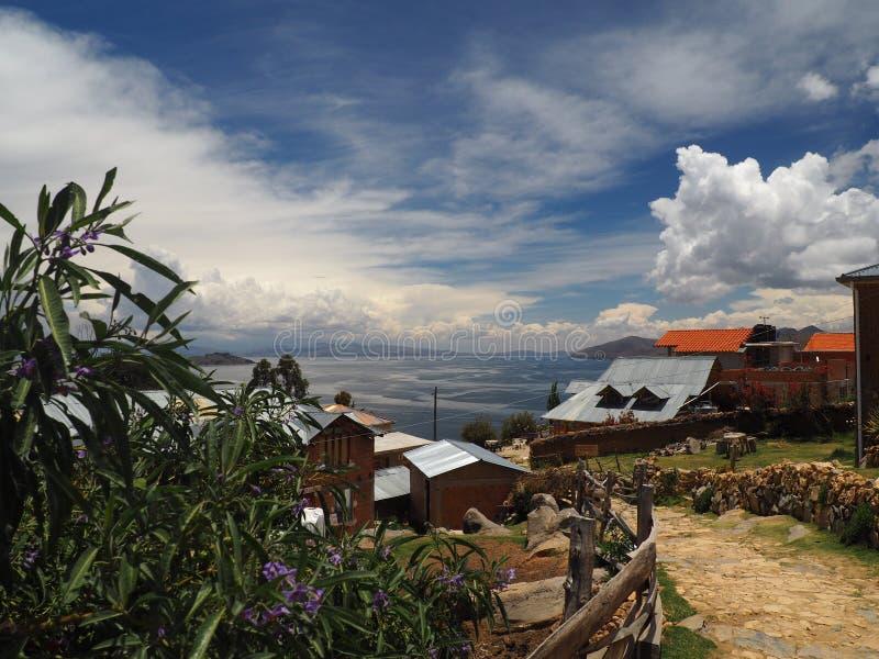 Isla Del Zol, Jeziorny Titicaca, Boliwia obrazy royalty free