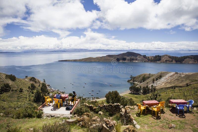 Isla Del Zol na Titicaca jeziorze w Boliwia obraz royalty free