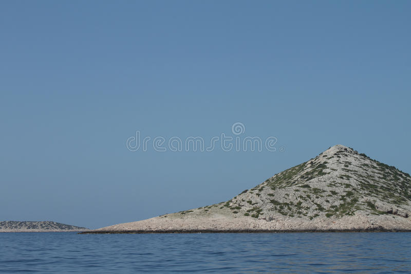 Isla deshabitada del archipiélago de Kornati fotos de archivo libres de regalías