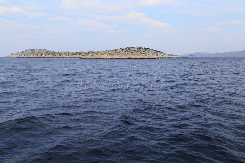 Isla deshabitada del archipiélago de Kornati, Croacia fotos de archivo