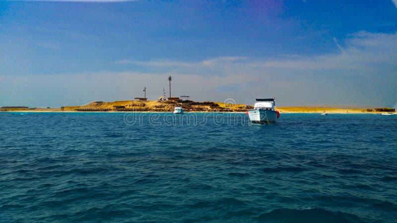 Isla en África Egipto imagen de archivo libre de regalías