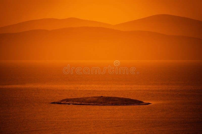 Isla en el Mar Egeo fotos de archivo libres de regalías