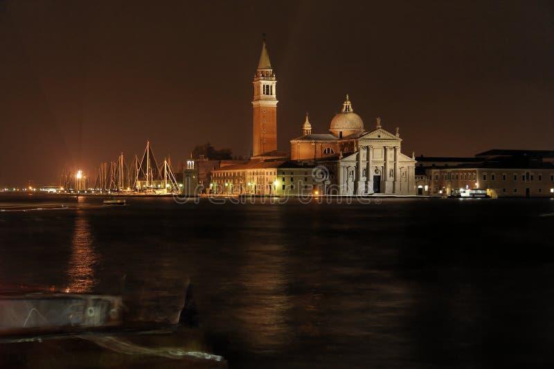 Isla en la noche - Venecia de San Jorge fotografía de archivo libre de regalías