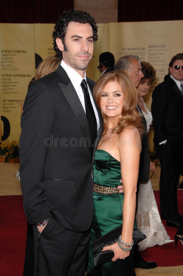 Isla Fisher, baron Cohen de Sacha photo stock