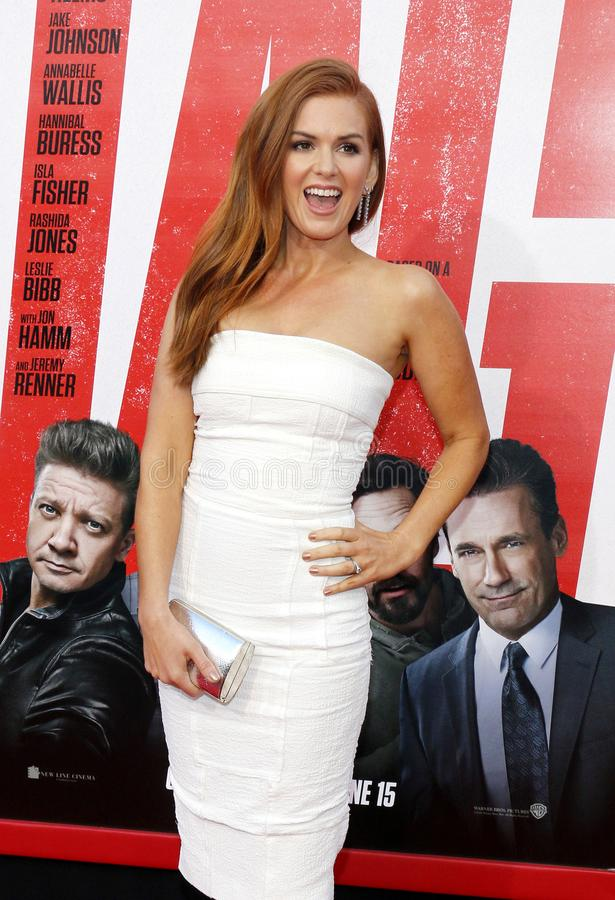 Isla Fisher. At the Los Angeles premiere of `Tag` held at the Regency Village Theatre in Westwood, USA on June 7, 2018 royalty free stock photos